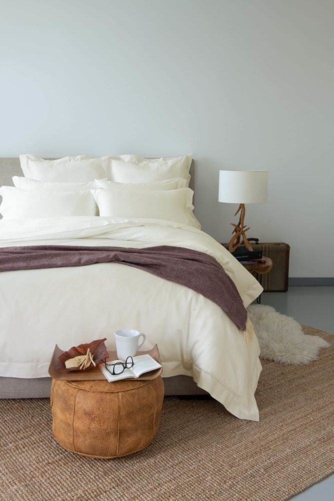 Solid_Ivory_bed sheets