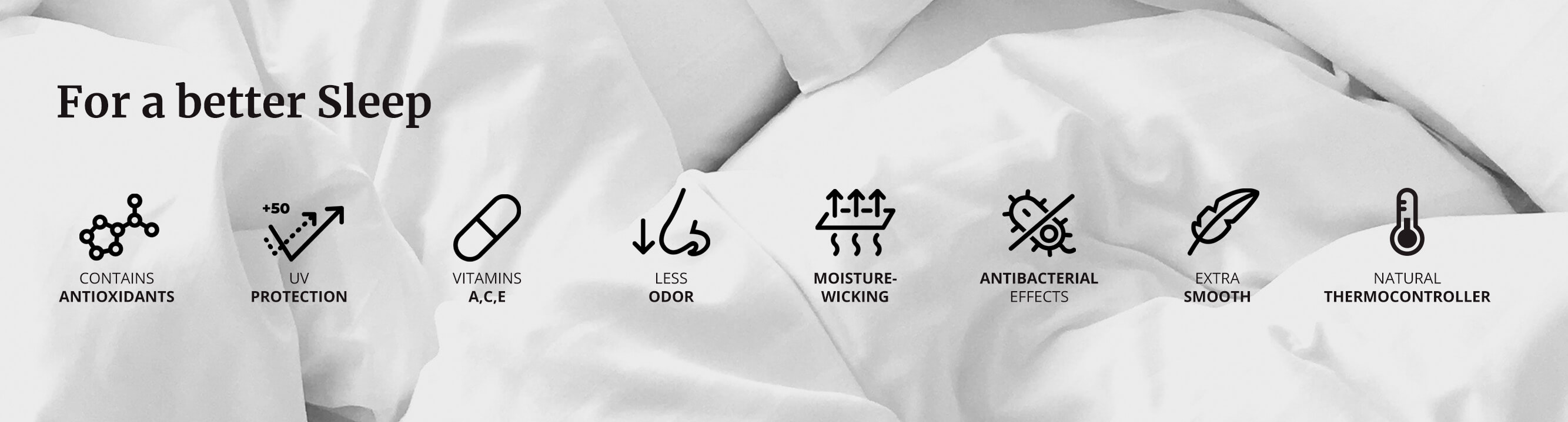 Marialma's bedding benefits in icons