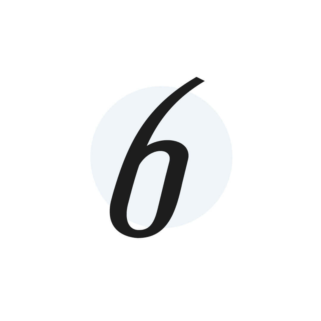 icon of number 6