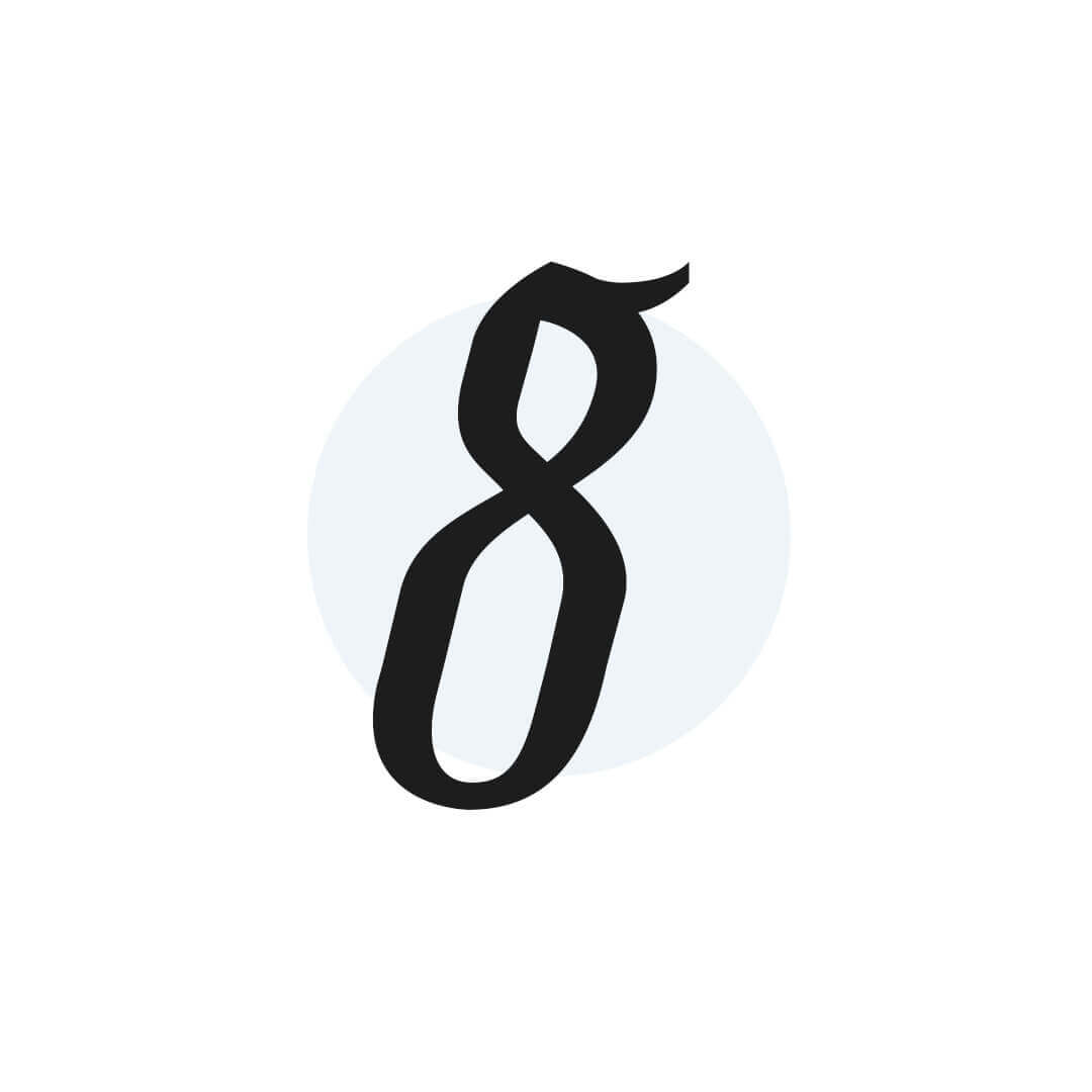 icon of number 8