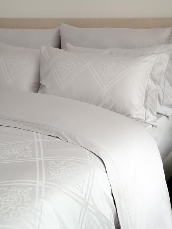 Marialma's Grey Faro Sensitive Zinc Pillowcase Set with Jacquard Faro
