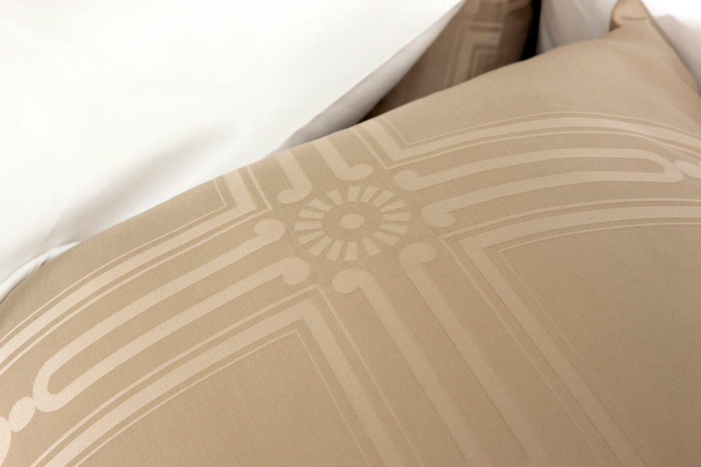 close-up of beige bedding by marialma