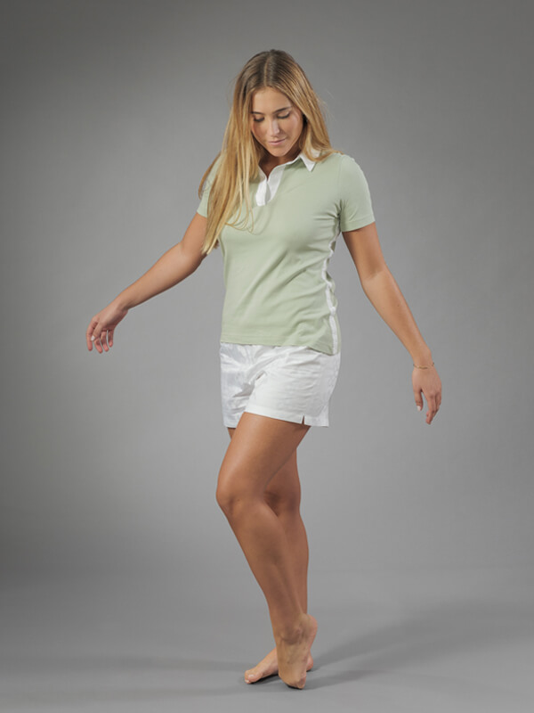 algae shorts polo set loungewear