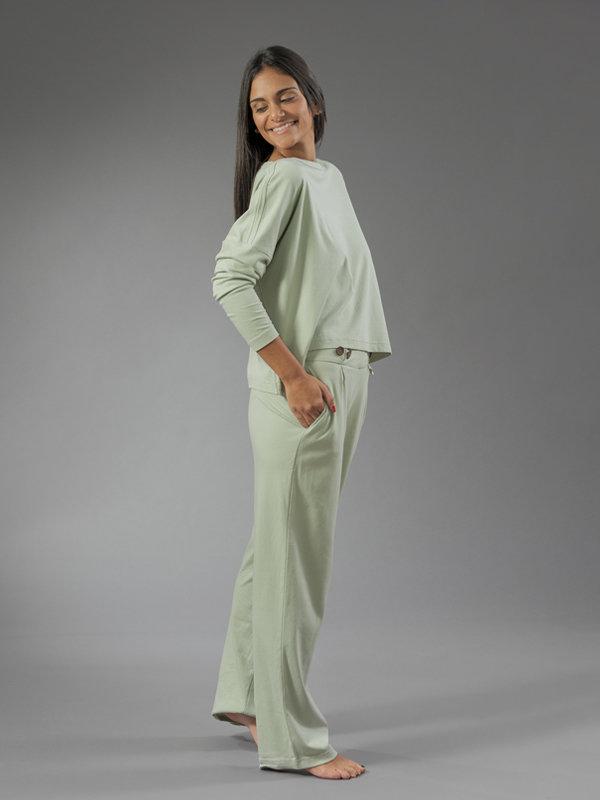 green pants algae loungewear